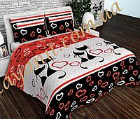 Комплект постельного белья Сатин 100% хлопок (Полуторное, Двойной, Евро, Семейный)
