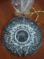 Шоколадная поздравительная медаль с Вашей эксклюзивной надписью и рисунком