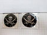 Силиконовая наклейка 3D ПИРАТСКИЙ ФЛАГ  50х32 мм  и  35 мм   2 вида, фото 2