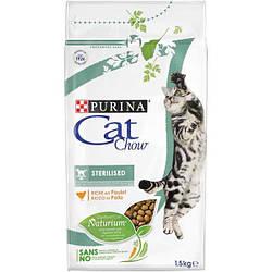Сухой корм для стерилизованных кошек  CAT CHOW  Sterilized с курицей  1.5
