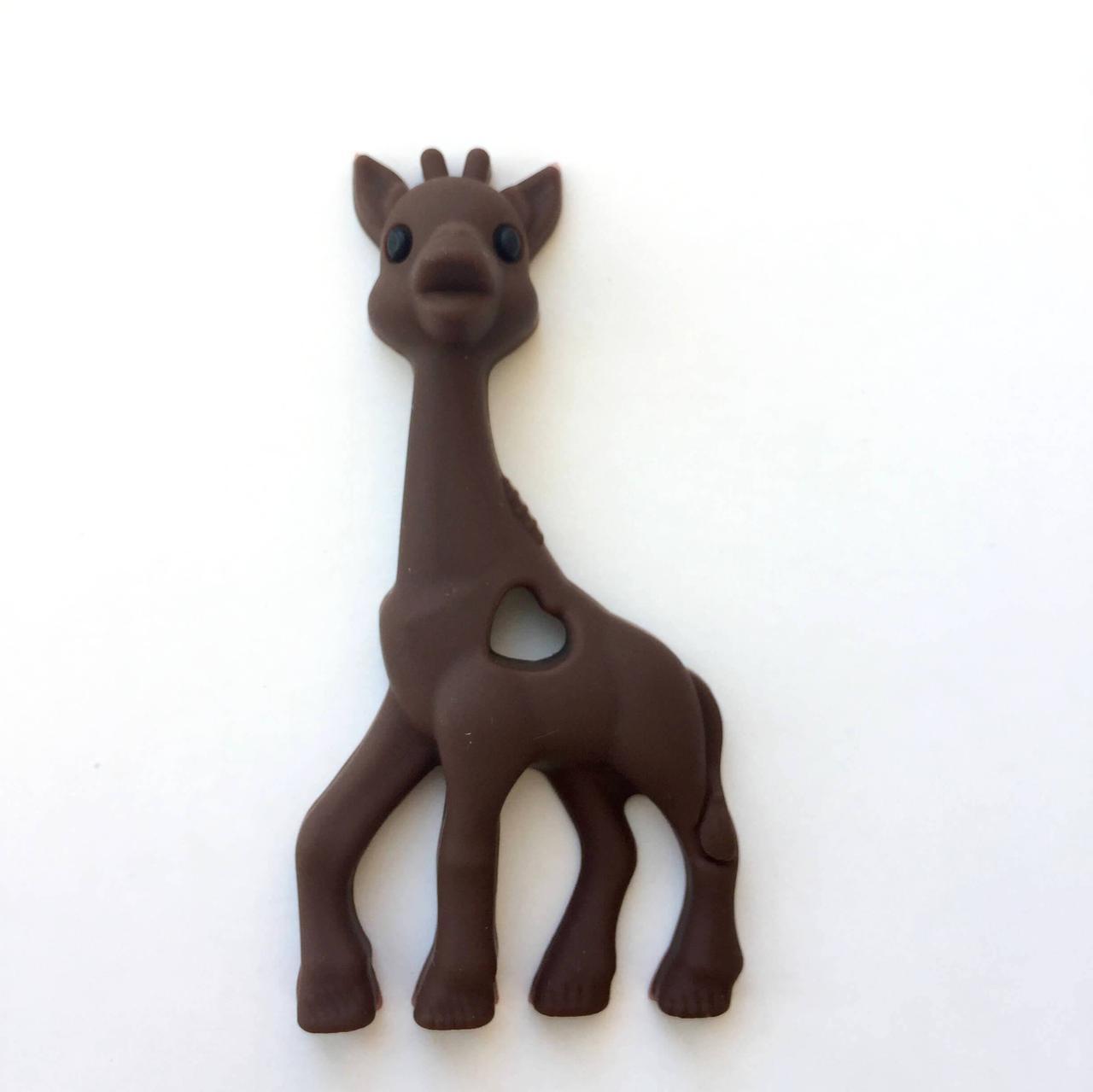 Жираф (коричневый) прорезыватель для зубов