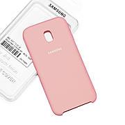 Силиконовый чехол на Samsung J3 330 (2017) Soft-touch Pink