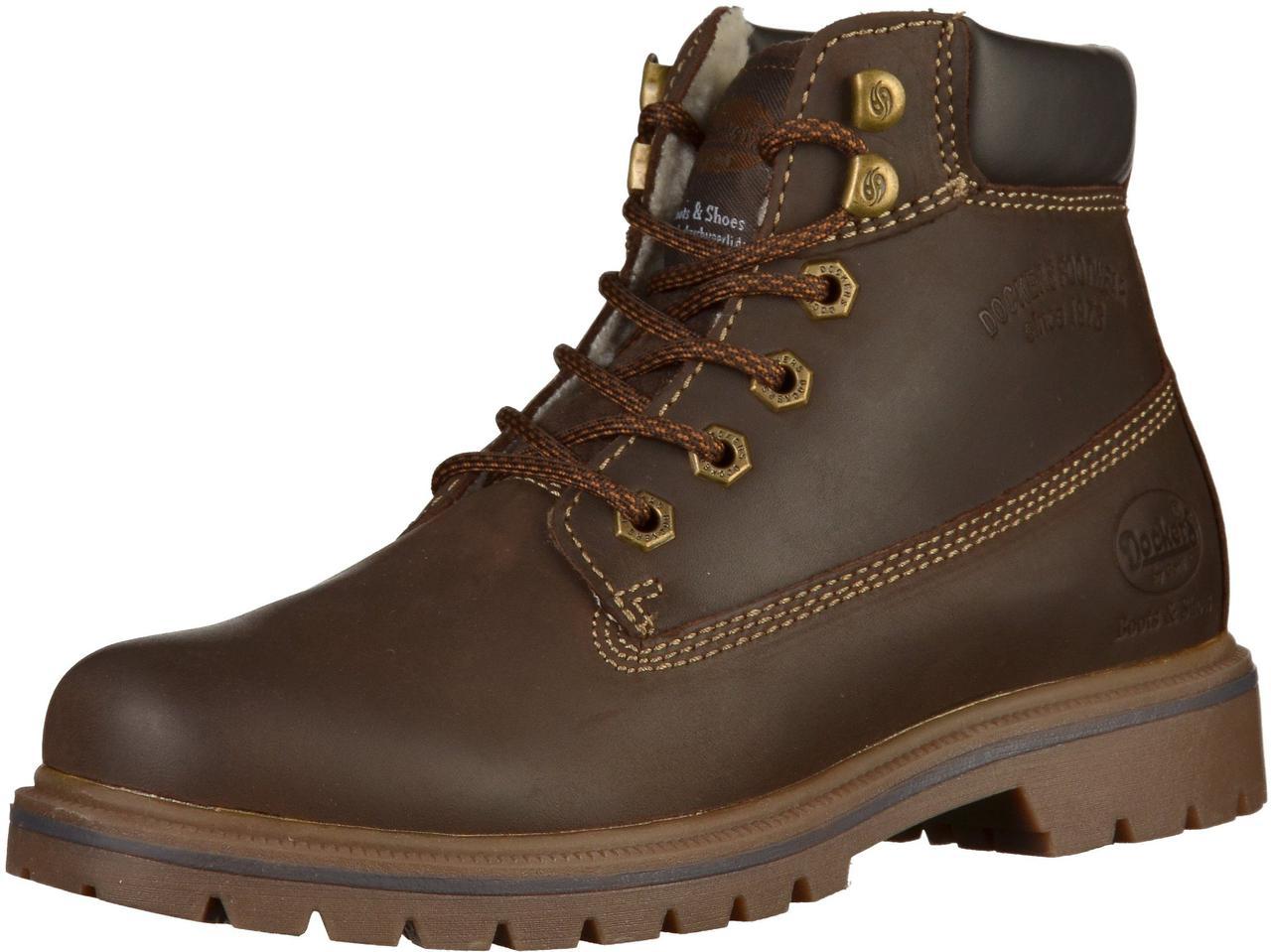 ba628de00 Мужские зимние ботинки из натуральной кожи с натуральным мехом овчины -  Dockers (США).