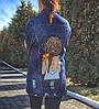 Джинсовая куртка с рисунком ручной росписью на заказ
