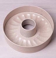 Форма для выпечки Kamille Marble разъемная со сменным дном для кекса 26х7 см Бежевый (KM-6023_psg)