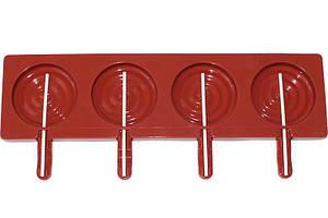Форма Hauser Круглая для леденцов на палочке 35х9.5 см Красный (EM-8490-C_psg)