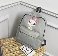 Коллекция рюкзаков с принтом Девочек Ушастого кота Кота в очках Милый дизайн Качественный товар Код: КГ5956, фото 1