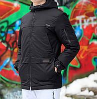 Куртка мужская Graf, материал-нейлон,цвет-черный. Код товар DS-9043