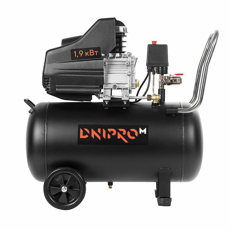 Компресор повітряний Dnipro-M AC-51, 1.9 кВт, 50Л + подарунок