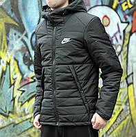 Куртка мужская в стиле Nike,материал-полиэстер,цвет-черный. Код товар DS-9056