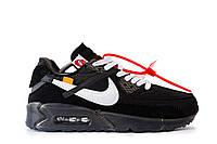 Мужские кроссовки Nike Air Max 90 Off-White, Текстиль, Дополнительные шнурки 2d4620822eb