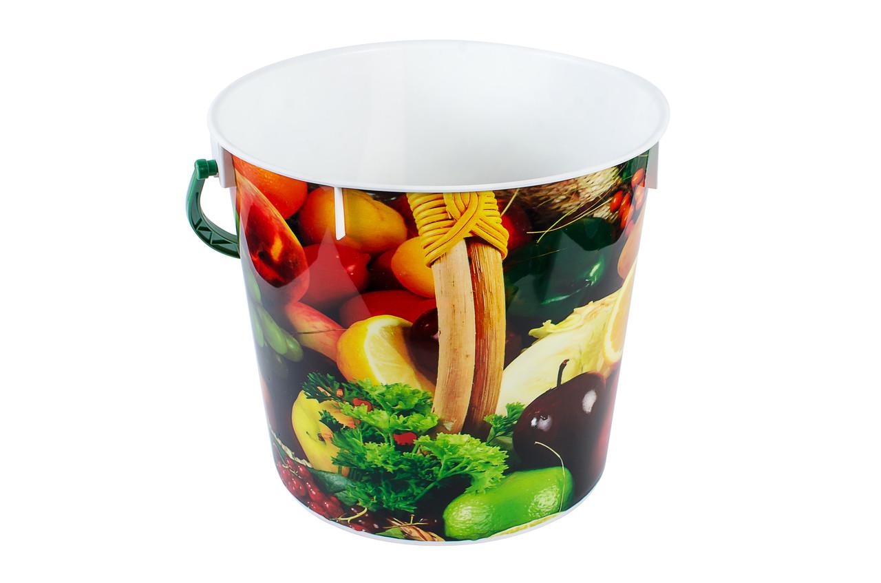 "Ведро пищевое ""Корзина с фруктами"" 5л."