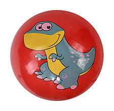 """Мяч резиновый """"Динозаврики"""" (красный)"""