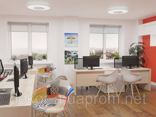 Реалистичная 3d визуализация интерьеров офисов JoinUp, разработка планов расстановки, планировка