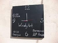 Меловые часы настенные