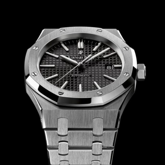 31969b864ff6 Наручные часы Audemars Piguet Royal Oak Silver Black AAA мужские копия AP -  watchme.