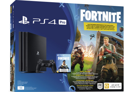 PlayStation 4 Pro 1Tb Ukr Black (CUH-7108B) Bundle Fortnite
