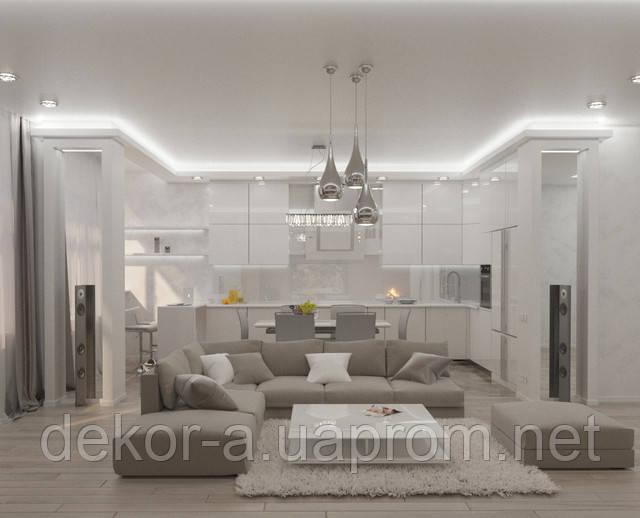 Разработка дизайна интерьера в современном стиле минимализм
