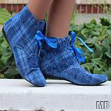 Ботинки на шнурках вельвет. Подошва: черная и белая. Размеры: 36-42 код 4523О, фото 2