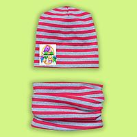 Осенняя шапочка с шарфиком-хомутом для девочки 6c69e45e092df