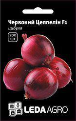 "Семена лука репчатого салатного Красный Цеппелин F1, 200 сем., ТМ ""ЛедаАгро"""
