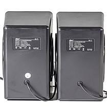 Колонки OVANN T1 черные музыкальные джек 3.5мм USB для компьютера ноутбука смартфона компьютерные мощные, фото 3
