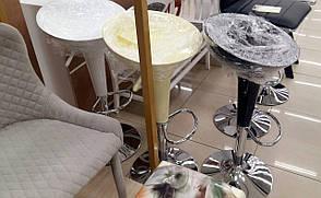 Стул барный пластиковый на одной ножке  AS-101 akh (SIGNAL PL- Стул барный хокер A-148), серебристый, фото 2