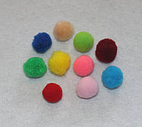 Помпоны разноцветные  код 710 упаковка 10 шт.