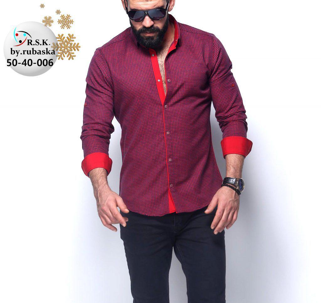 Стильная кашемировая мужская рубашка с длинным рукавом-трансформером из  Турции f4cc44b9d03