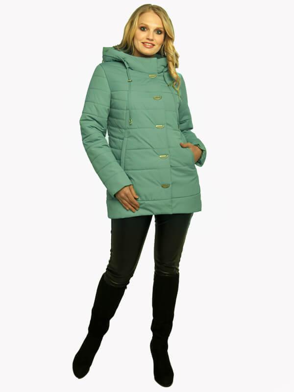 Осенние женские куртки  большого размера  50-60  Шалфей