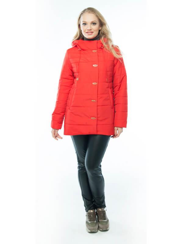 Демисезонная женская куртка  большого размера 50-60  красный