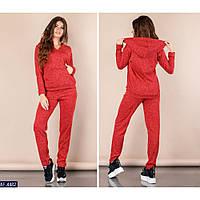 3942a356da2b Спортивный костюм женский ангоровый с карманом кенгуру размеры L.M.S.XL  цвет красный