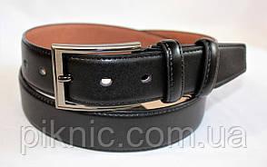 Ремень мужской кожаный 3,5см. Ремень 35мм черный