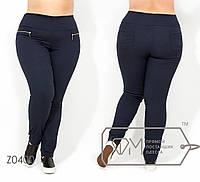 Женские брюки в больших размерах с молниями FMZ0400
