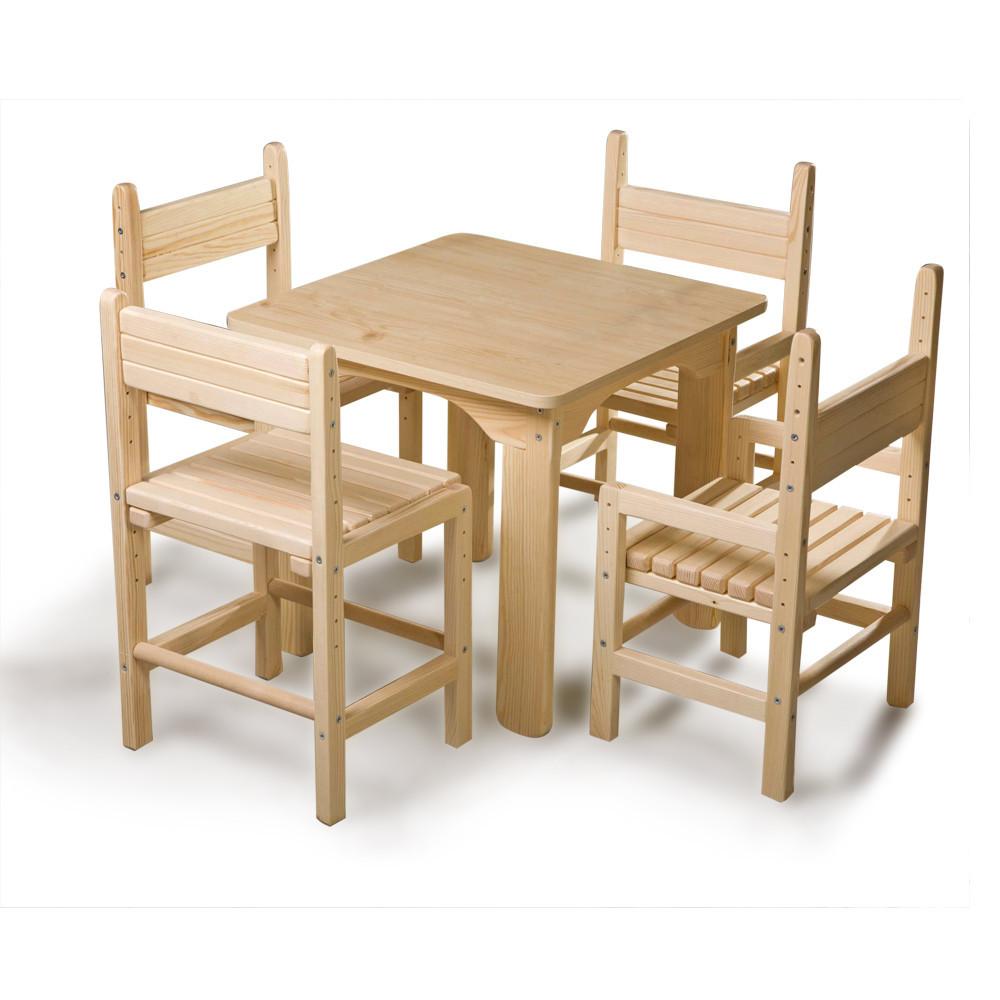 Дитячий стіл і стілець сосновий SportBaby