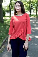 e2906b46ff7 Скидки на Оранжевая блузка рюши в категории блузки и туники женские ...
