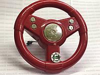 Руль бордовый для детского электромобиля
