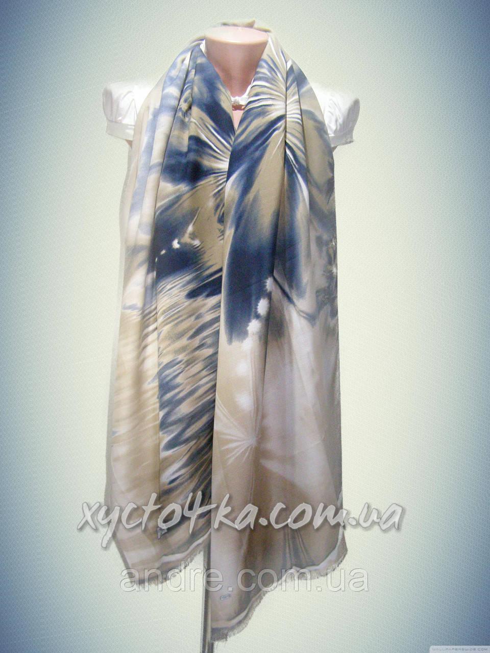 Турецкие шарфы палантины Течение, синий