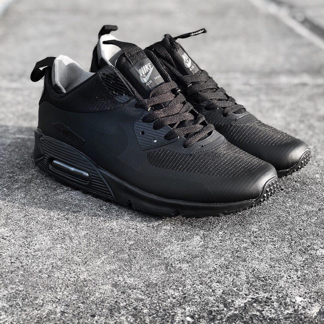 d495a99575f2ec Nike Air Max 90 Hyperfuse Mid Black | мужские кроссовки; черные - BOOT CLUB  в