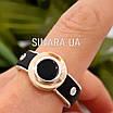 Мужское серебряное кольцо Барака Baraka с золотом, ониксом и каучуком, фото 7