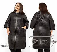 Стеганное женское пальто демисезон в больших размерах TFMZ0407, фото 1