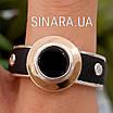 Мужское серебряное кольцо Барака Baraka с золотом, ониксом и каучуком, фото 5