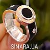 Мужское серебряное кольцо Барака Baraka с золотом, ониксом и каучуком, фото 3