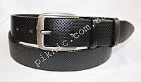 Ремень мужской кожаный 120х4см Под брюки и джинсы