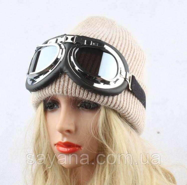 b85570007b9cb08 Купить Женскую мохеровую шапку о съемными очками в расцветках. Р-30 ...