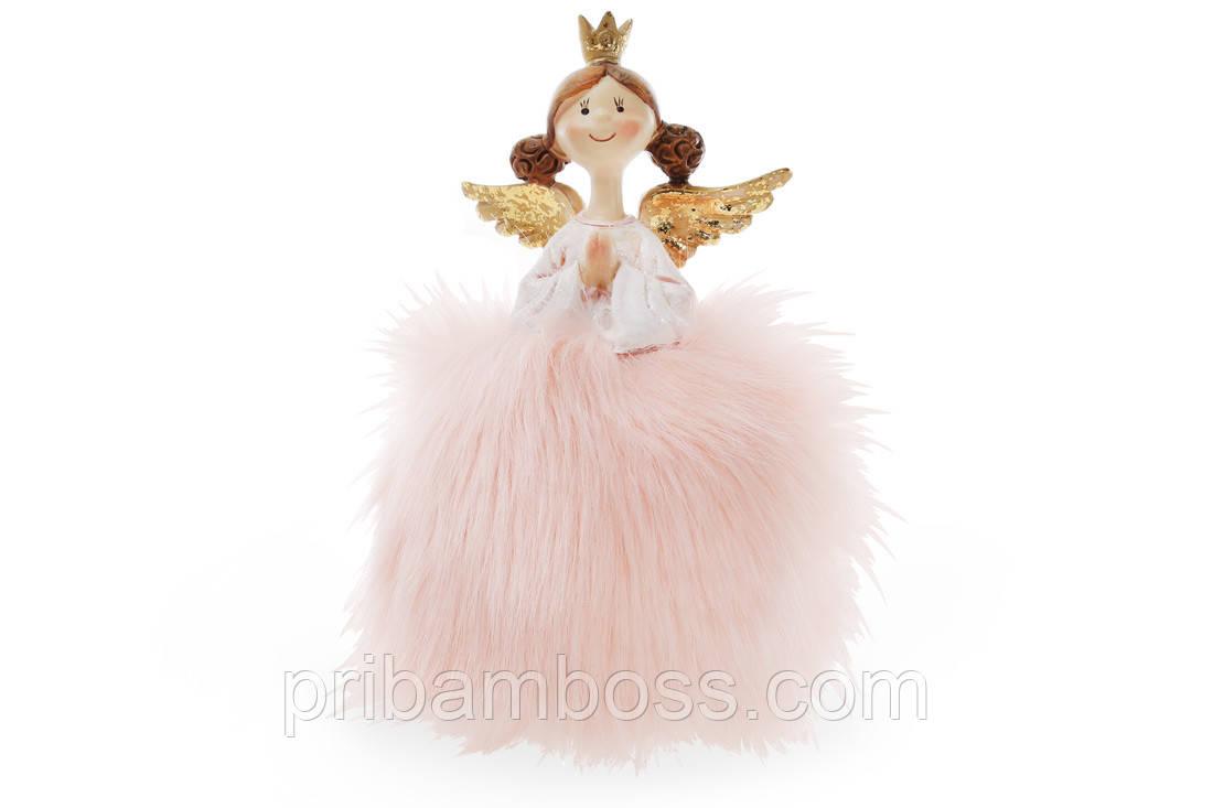Декоративная фигурка Принцесса 16см, цвет - розовый с золотом
