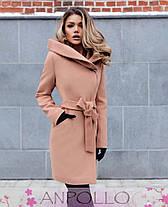 ba2f40ffb68 Женское осеннее кашемировое пальто с капюшоном  продажа