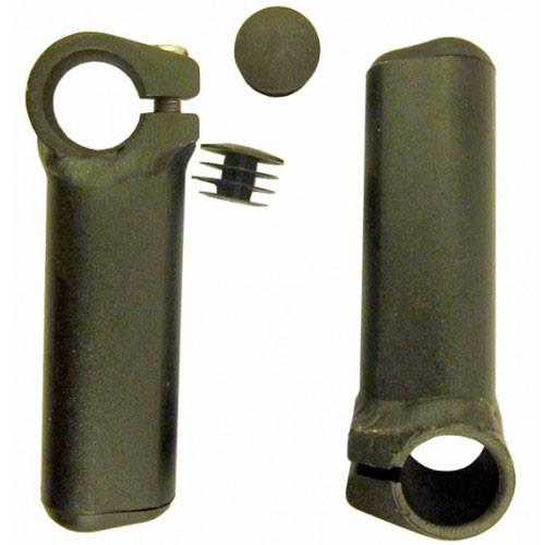 Рога алюминиевые короткие 100мм черные