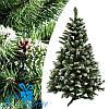 Искусственная елка с шишками КАРПАТСКАЯ с белыми кончиками 210 см