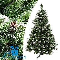 Искусственная елка с шишками КАРПАТСКАЯ с белыми кончиками 190 см, фото 1